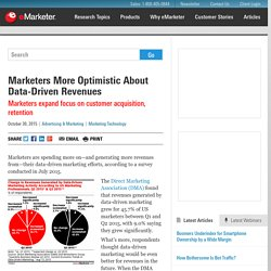 Marketers More Optimistic About Data-Driven Revenues