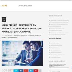 Marketeurs : Travailler en agence ou travailler pour une marque ? [Infographie]