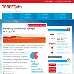 Marketing account manager: job description