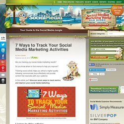7 Ways to Track Your Social Media Marketing Activities Social Media Examiner