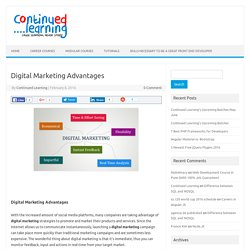 Digital Marketing Advantages - Continued Learning