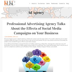 Professional Advertising Agency Talks About the Effects of Social Media Campaigns on Your Business