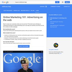 Online Marketing 101: Advertising on the web - AdWords Help