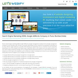 Search Engine Marketing, Google AdWords Company in Pune, Mumbai India