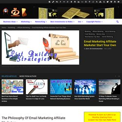 Email Marketing Affiliate Marketer Start Your Own
