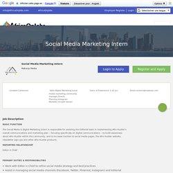 Social Media Marketing Intern