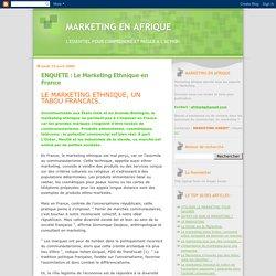 ENQUETE : Le Marketing Ethnique en France