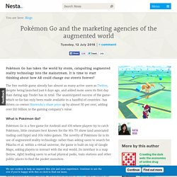 Pokémon Go and the marketing agencies of the augmented world
