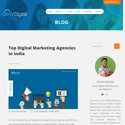 Top 30 Digital Marketing Agencies in India