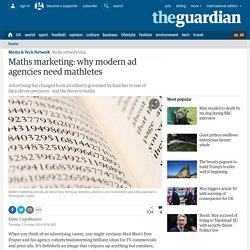 Maths marketing: why modern ad agencies need mathletes