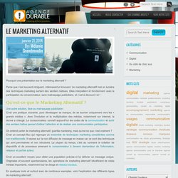 Le Marketing AlternatifBlog de l'Agence Durable