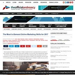 The Most In-Demand Online Marketing Skills for 2017