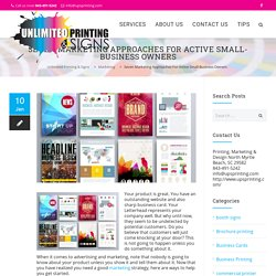 SEVEN MARKETING APPROACHES FOR ACTIVE SMALL-BUSINESS OWNERS