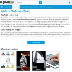 MARKETING D'APPLE : Etudes, articles et documents sur le Marketing d'Apple