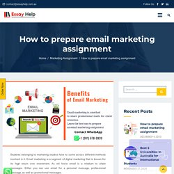 Easy StepsTo Prepare Email Marketing Assignment