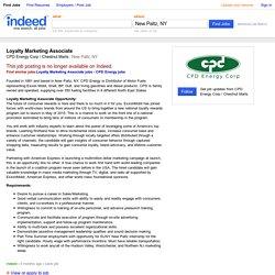 Loyalty Marketing Associate job - CPD Energy Corp / Chestnut Marts - New Paltz, NY