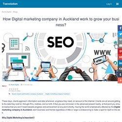 How Digital marketing company in Auckland work to grow your business? : Toevolution