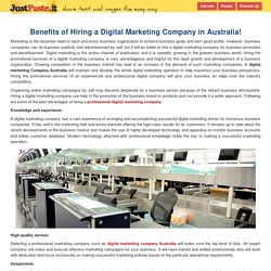 Benefits of Hiring a Digital Marketing Company in Australia!