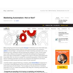 Marketing Automation: Hot or Not?