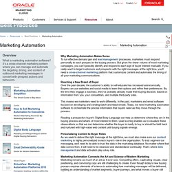 What is Marketing Automations