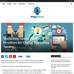 Marketing Automation best practices for Digital Marketing Agency