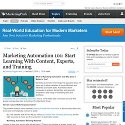 Marketing Automation 101: Content and Training Resources