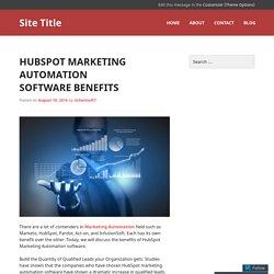 HubSpot Marketing Automation Software Benefits
