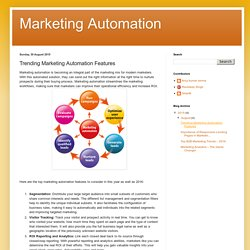 Marketing Automation : Trending Marketing Automation Features