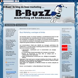 B-Buzz : le blog du buzz marketing ....: Buzz Marketing: avantages et limites