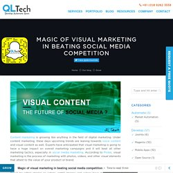 Magic of visual marketing in beating social media competition