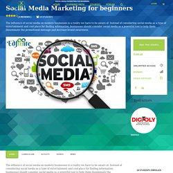 Social Media Marketing for beginners - Edfinite