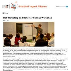 BoP Marketing and Behavior Change Workshop