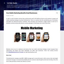 How Mobile Marketing Benefits Small Businesses