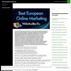 Marketing Best in Europe