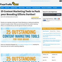 25 Content Marketing Tools to Push your Branding Efforts Further! - Search, Social News PageTraffic Buzz