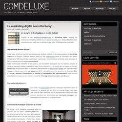 Le marketing digital selon Burberry