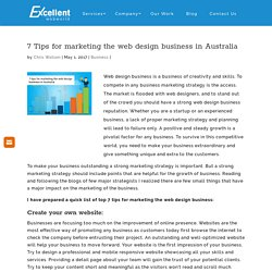 7 Tips for marketing the web design business in Australia