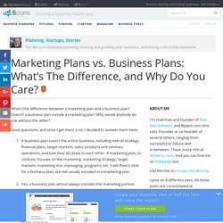 Marketing Plans vs. Business Plans: What's The Difference, and Why Do You Care?