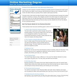 Online Marketing Degree » 50 Best Free eBooks for Your Business Education
