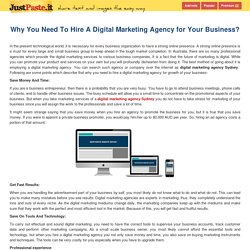 Why You Need To Hire A Digital Marketing Agency for Your Business?