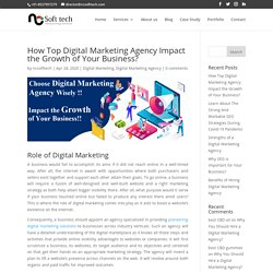 How Top Digital Marketing Agency Impact the Growth of Your Business? - NCSoftTech