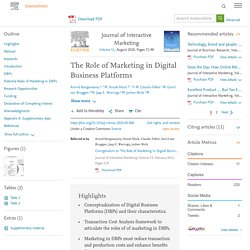 The Role of Marketing in Digital Business Platforms