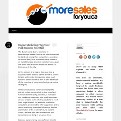Online Marketing: Tap Your Full Business Potential