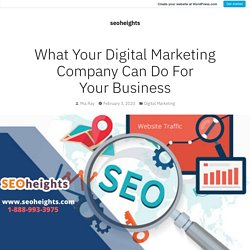 What Your Digital Marketing Company Can Do For Your Business – seoheights