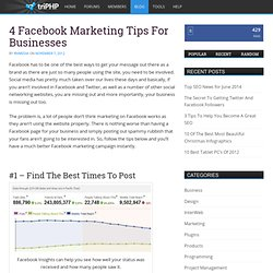4 Facebook Marketing Tips For Businesses