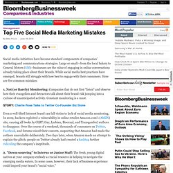 Top Five Social Media Marketing Mistakes