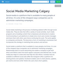 Social Media Marketing Calgary