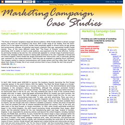 Marketing Campaign Case Studies Collection