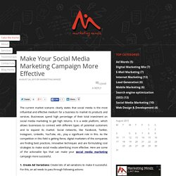 Make Your Social Media Marketing Campaign More Effective