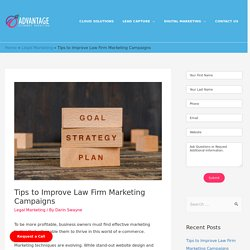 Improve Law Firm Marketing Campaigns